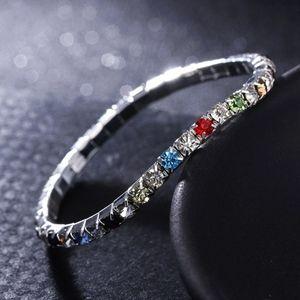 Jewelry - Multicolor Square Crystal Tennis Bracelet